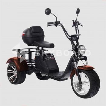 Электроскутер CityCoco SKYBOARD Trike BR80 Коричневый