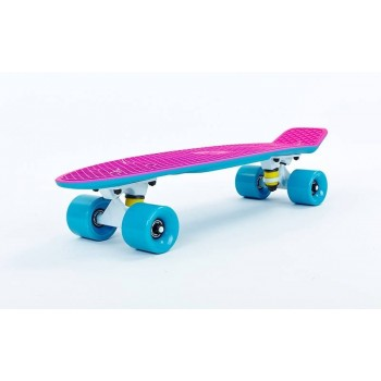 "Пенни борд Fish Skateboards Pink/Blue 22.5"" - Розово/Синий"